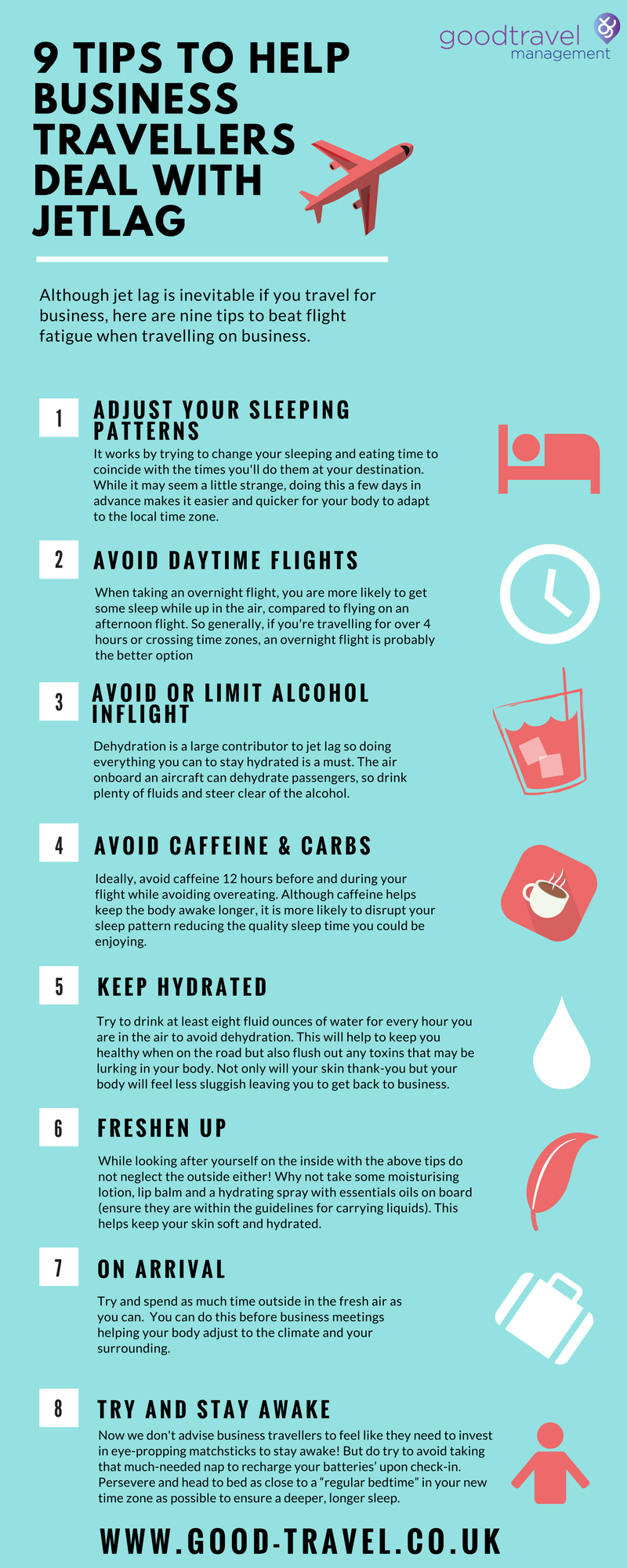 9 tips to help business travellers deal with Jetlag (1)