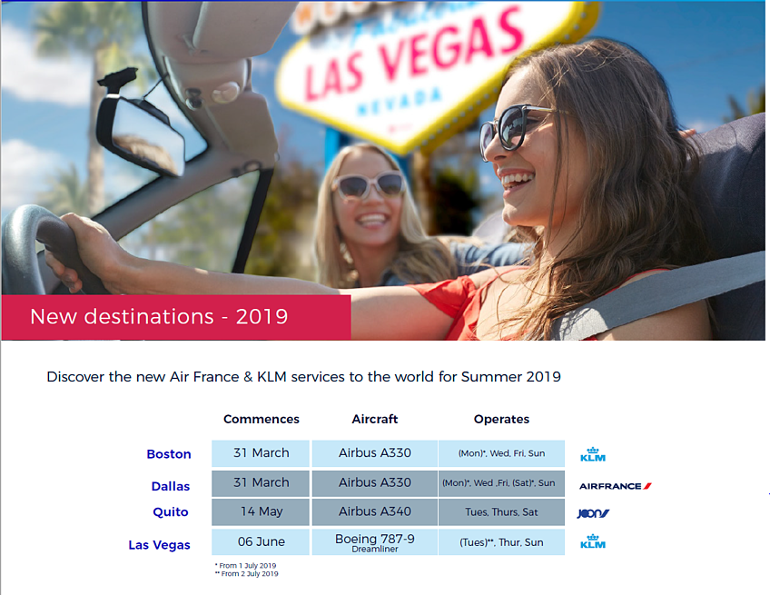 Good Travel Management Air France KLM New Routes for 2019