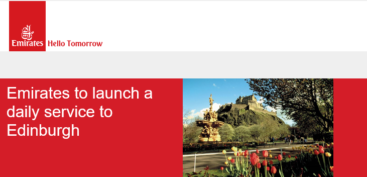 Good Travel Management - Emirates to launch a daily service between Edinburgh and Dubai