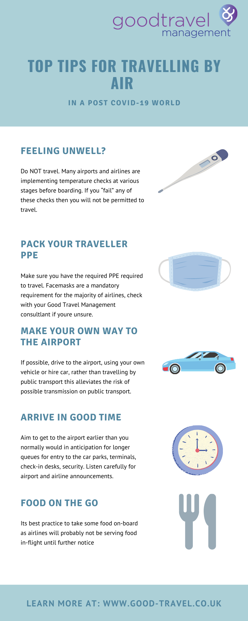 INFO Top Tips for travelling by Air in a post Covid-19 world