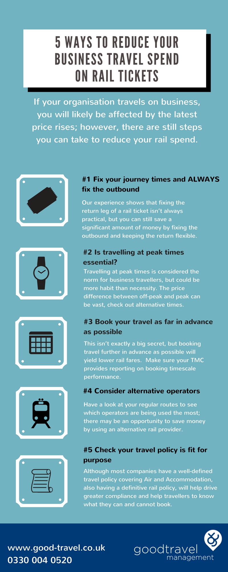 Infographic: 5 ways to reduce your business travel spend on rail