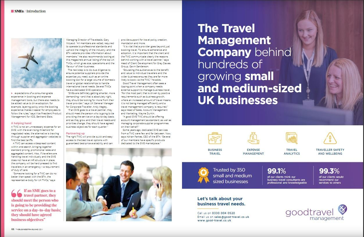 """""""Hull"""" of a feature for Good Travel Management in The Business Travel Magazine"""